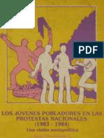 José Weinstein - Los jóvenes pobladores en las protestas nacionales (1983-1984). .