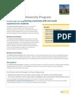 University Program Flyer