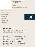 Representation of Data Note