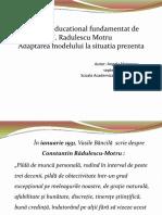 Constantin Radulescu Motru, Modelul Educational