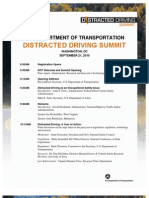 2010.09.22 Distracted Driving Summit Press Kit - US DOT