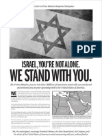 TRAITORS - Christian Zionists Stand with Israel NOT America - AD WSJ - Final 5-18-2011