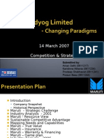 Maruti Udyog Limited-Changing Paradigms-14 Mar 2007