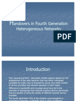 4G Handover in Heterogeneous Networks