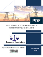 Http Www.forumofregulators.gov.in Data Study Report on Standard is at Ion of Distribution Franchise Model