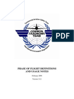 Phase of Flight Definitions