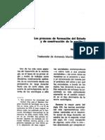 Norbert Elías - Los procesos de formación del Estado y de construcción de la nación