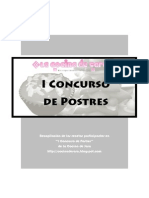 Recetas I Concurso de Postres