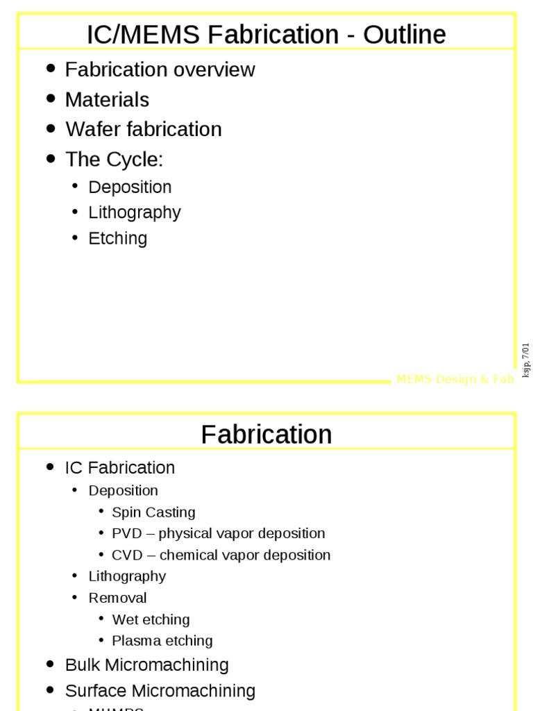 Mems Fab Microelectromechanical Systems Chemical Vapor Deposition Cvd