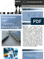 Know Your ABC Activity Based Costing