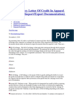 cDocumentary Letter of Credit in Apparel Industry