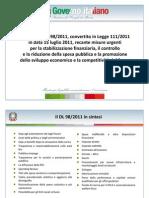 Decreto Legge 98/2011, convertito in Legge 111/2011 in data 15 luglio 2011. Presentazione