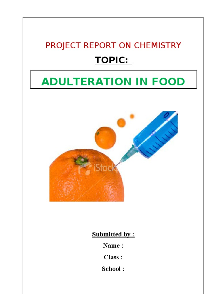 food adulteration 2 essay (8) any food inspector may exercise the powers of a police officer under section 42 of the code of criminal procedure, 1973 (2 of 1974) for the purpose of ascertaining the true name and residence.