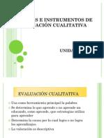 TÉCNICAS E INSTRUMENTOS DE EVALUACIÓN CUALITATIVA