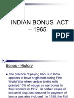 BONUS ACT _ 1965