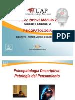 Clase 2 psicopatologia descriptiva
