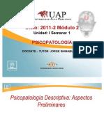 Psicopatología Descriptiva semana 1