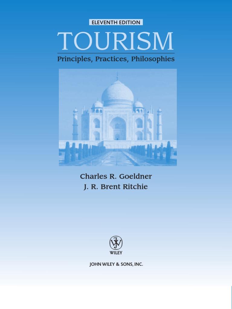 Tourism Principles Practices Philosophies | Tourism | Tourism And ...