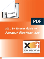 2011 By-Election Guide to Nunavut Elections Act