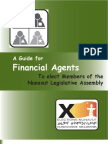 A Guide for Financial Agents To elect Members of the Nunavut Legislative Assembly