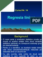 Curs Nr. 14 Regresia Liniara