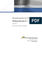 Microsoft Dynamics AX Writing Secure X++ Code
