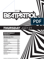 Beat Patrol Timetable 2011
