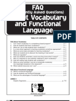 ELL FAQ - Vocabulary and Functional Langauge