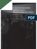 O Teatro Segundo Artaud