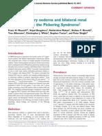 Flash pulmonary oedema and bilateral renal  artery stenosis