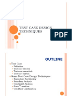 Test Case Design Methods