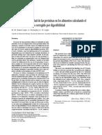 Correcion de Proteina Ideal