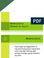 9. Linggwistika - Morpolohiya
