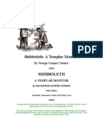 George Cooper Connor - Shibboleth a Templar Monitor (1894) (172 Pgs)
