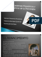 Antecedentes Filosoficos y Cientificos de La Psicologia