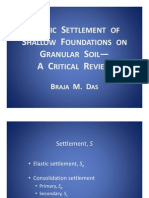 Elastic Settlement a Critical Review