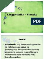 10. Linggwistika - Sintaks