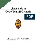 Sabazius - Historia de La Ordo Templi Orientis