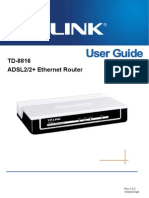 TD-8816 User Guide