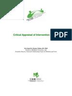 Critical Appraisal of Intervention Studies