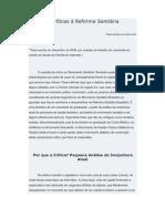 Algumas Críticas à Reforma Sanitária Brasileira