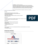 Swot Analysis on American Airlines