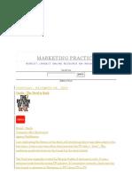 Marketing Practice