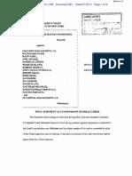 Securities and Exchange Commission v. Galleon Management, LP, Et Al Final Judgement 07-12-11
