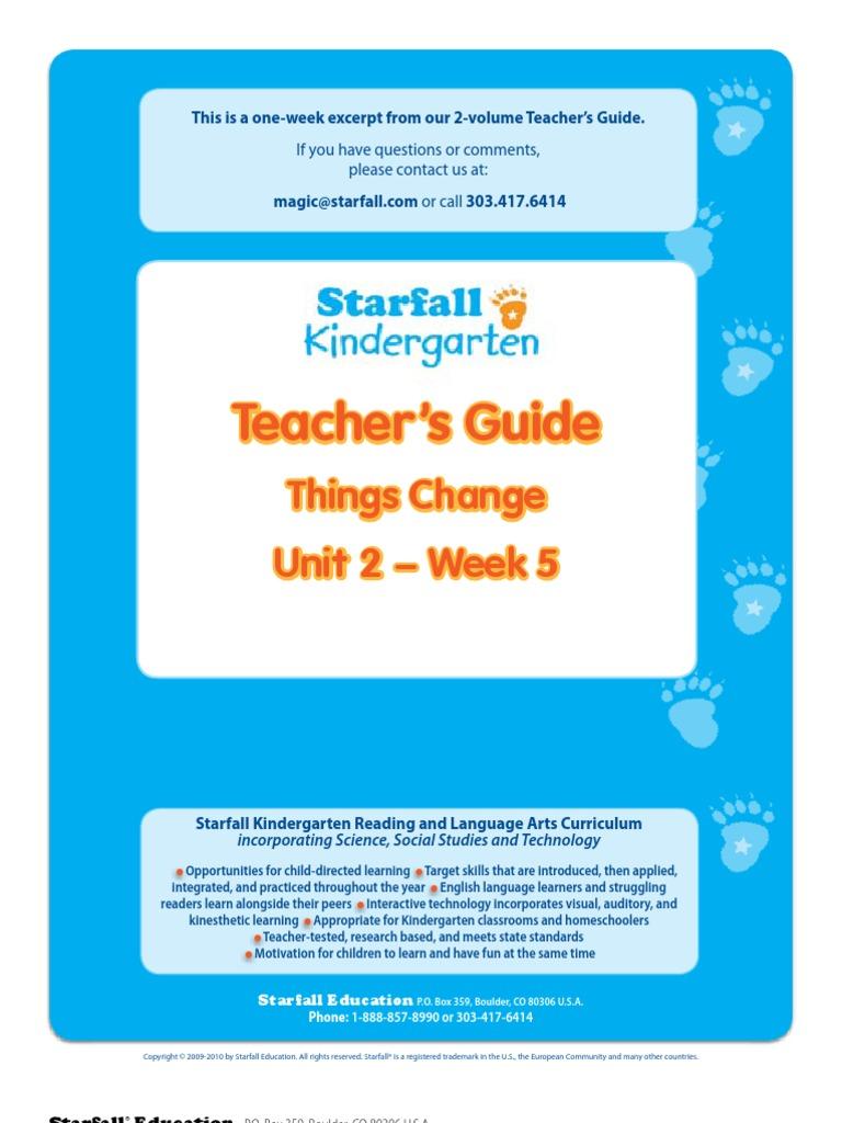 Starfall Kindergarten Lesson Plans Week5[1] | Reading ...
