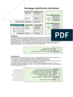 mortgage qualification worksheet