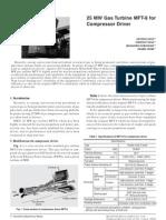 25MW Gas Turbine MFT-8 for Compressor Driver