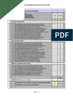 bid-no bid assessment and checklist form