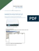 Mikrotik Router Basic Setup