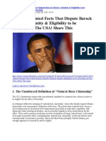 51 Bullet-Pointed Facts of Obama's Ineligibility